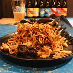ブラッセルズビアプロジェクト新宿 - 干し豆腐のサラダ(600円)