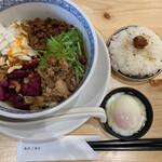 あのジャンクストーリー あのコウベエニシ - ■あの担担麺温玉ダイブめしセット¥1060
