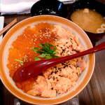 ほっ。 - 【ランチ】理想の親子丼(銀鮭&いくら)¥1200