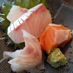 季節料理 むさし - 刺身定食の刺身アップ♪