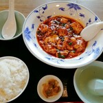 137928396 - 「牛肉麻婆豆腐セット」1400円+税