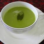 13793624 - グリーンピーススープ(本日のランチ)