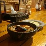 スープカレー専門店 シャララ - ハンバーグチーズ ¥1200 *辛さ5番(無料マニア向け危険表示) *ライス小盛(150g)