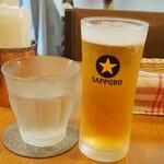 Yappari India - ランチビール+300円。