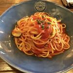 137949744 - 様子ファームこだわり野菜のトマトパスタ 2020.09