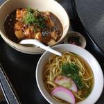 お食事処ときわ - 料理写真:カリカリ天津マーボー丼セット ¥980