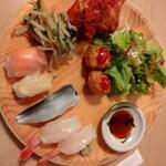 旬菜食健 ひな野 - 食べ放題(お寿司、肉団子、サラダ)