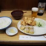 一芳亭 - えび天定食 & ビール