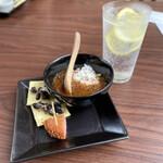 銀座酒場 マルダイ 大名 - 黒豆マスカルポーネも美味。