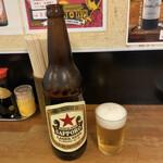 銀座屋  - 定番ラガー赤星 大瓶/380円♪