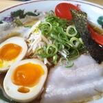 137966993 - 播州醤油らーめん 630円、トッピング 煮卵 +150円