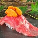 炭焼酒場 エソラ - 炙り肉寿司