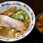 """にぼshin. - ミニ丼セット = """" ミニ豚カス丼 """" と """" にぼちゅう """""""
