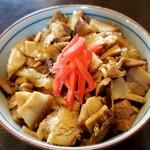 """にぼshin. - ミニ丼セットの """" ミニ豚カス丼 """""""