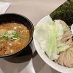 tsukemengonokamiseisakujo - 海老つけ麺味玉(950円)並