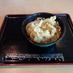 新湊食堂 - 料理写真:白エビかき揚げうどん