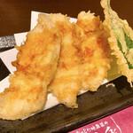 酒楽 - 大山鶏の天ぷら♪