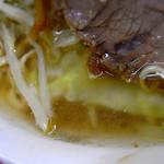 ラーメン二郎 - スープは非乳化系