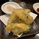 漁師めし - キスの梅しそ天ぷら