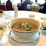 ジャスミンガーデン - 白湯ピリ辛らーめん 塩豚スープ炒め