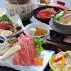雲水 - 料理写真:熊野牛すき焼きと鯛釜めし2,000円別