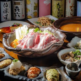 「選べる彩り5種の鍋コース」2時間飲み放題付4000円~