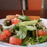 138007630 - トマト、牛蒡、胡瓜、ピーマン、レタス、ベビーリーフのサラダ