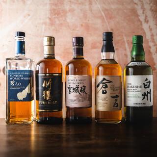 和食に合う幅広いラインナップのお酒を揃えています。