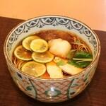 【 酢橘おろし蕎麦(温)】