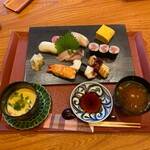 マルホ寿司 - すし御膳 1,980円