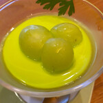 マルホ寿司 - 料理写真:シャインマスカットのパンナコッタ