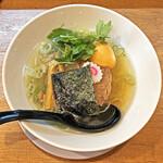 いぶし銀 - 「大人の塩ラーメン」¥880+「くんせい味玉」¥120
