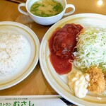 レストラン むさし - 3品セット《ハンバーグ・チキンカツ・カニクリームコロッケ》【Jul.2020】