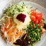 山原食堂Kuni - 別添えのパパイヤの練りソース足して混ぜ