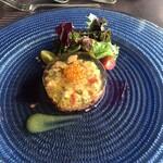 ル・トリアノン - 前菜、酸味が効いたゼリーでした。華やかなお皿で見た目よし。