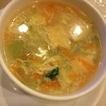 アジアン食堂 蓮華堂 - 海鮮丼のセットのスープ