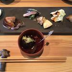 じょんの庵 - 料理写真:じょんのおまかせ前菜七種