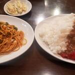 レストラン伍平 - 大盛カレーライスと大盛ナポリタン、ナポレオンライスに非ず(´◉ᾥ◉`)