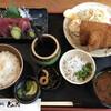 とみた - 料理写真:きすフライと刺身定食
