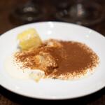 フォカッチェリア ラ ブリアンツァ - フォカッチャとパイナップルのデザート