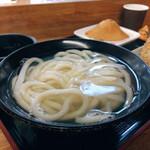 手打うどん 三徳 - 釜揚げ(小) 極太麺です