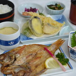 レストラン 海幸苑 - 料理写真:10月からの新メニュー「小浜御膳」登場!!のどぐろの一夜干しをはじめ天ぷら、近海お刺身、茶碗蒸しと欲張りな小浜の旬御膳になります。