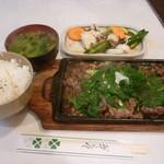 13807211 - 牛肉ニンニク焼定食(1,570円)