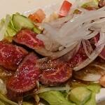 黒毛和牛のタタキカルパッチョわさび味