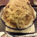 甘味茶屋 茶○ - 黒蜜黄粉小豆+ミルク(570円)