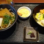 すしダイニング - 麺御膳 うどんと鮭親子丼