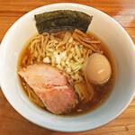 一番いちばん - 限定の「ニーボ」(煮干)¥850+「味玉」¥100