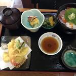 おけしょう鮮魚の海中苑 - 海鮮丼と天ぷらの御前