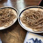 皿そば 渚庵 - 皿そば(一人前は5皿)