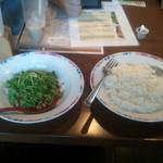13815477 - パクチーサラダ+ライス=パクチー丼!!